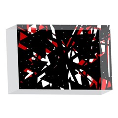 Black, red and white chaos 4 x 6  Acrylic Photo Blocks
