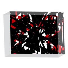 Black, red and white chaos 5 x 7  Acrylic Photo Blocks