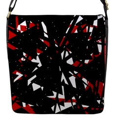 Black, red and white chaos Flap Messenger Bag (S)