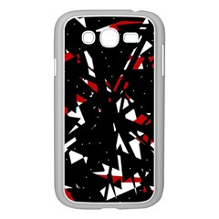 Black, red and white chaos Samsung Galaxy Grand DUOS I9082 Case (White)