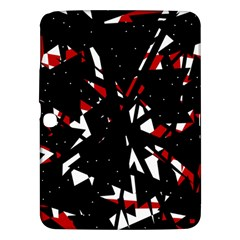 Black, red and white chaos Samsung Galaxy Tab 3 (10.1 ) P5200 Hardshell Case