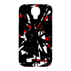 Black, red and white chaos Samsung Galaxy S4 Classic Hardshell Case (PC+Silicone)