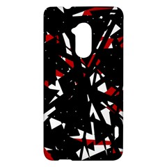 Black, red and white chaos HTC One Max (T6) Hardshell Case
