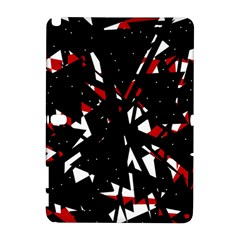 Black, red and white chaos Samsung Galaxy Note 10.1 (P600) Hardshell Case