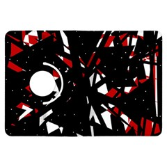 Black, red and white chaos Kindle Fire HDX Flip 360 Case