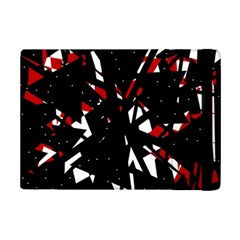 Black, red and white chaos iPad Mini 2 Flip Cases