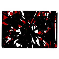 Black, Red And White Chaos Ipad Air Flip