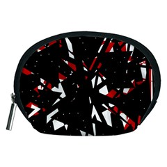 Black, red and white chaos Accessory Pouches (Medium)