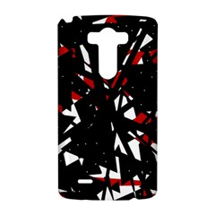 Black, red and white chaos LG G3 Hardshell Case