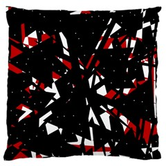 Black, red and white chaos Large Flano Cushion Case (One Side)
