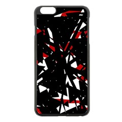 Black, red and white chaos Apple iPhone 6 Plus/6S Plus Black Enamel Case