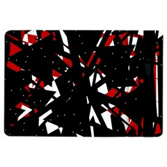 Black, red and white chaos iPad Air 2 Flip