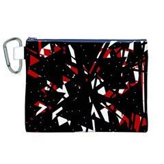 Black, red and white chaos Canvas Cosmetic Bag (XL)