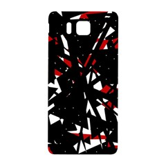 Black, red and white chaos Samsung Galaxy Alpha Hardshell Back Case