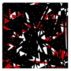 Black, red and white chaos Large Satin Scarf (Square)