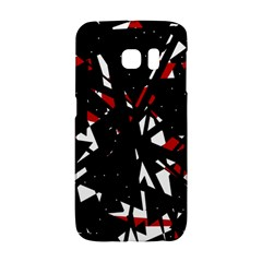 Black, red and white chaos Galaxy S6 Edge
