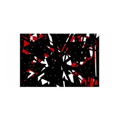 Black, red and white chaos Satin Wrap