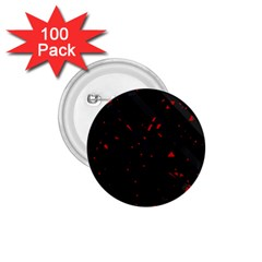 Black and red 1.75  Buttons (100 pack)