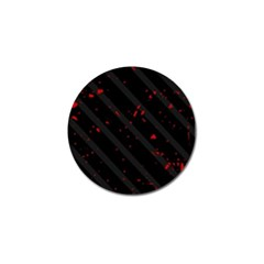 Black and red Golf Ball Marker (4 pack)
