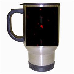 Black and red Travel Mug (Silver Gray)