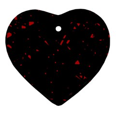 Black and red Heart Ornament (2 Sides)