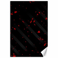 Black and red Canvas 24  x 36