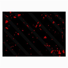 Black and red Large Glasses Cloth