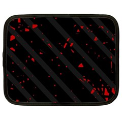 Black and red Netbook Case (Large)