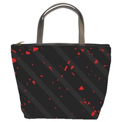 Black and red Bucket Bags
