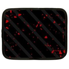 Black and red Netbook Case (XXL)