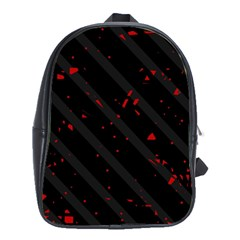Black and red School Bags(Large)