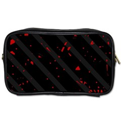 Black and red Toiletries Bags 2-Side