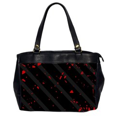Black and red Office Handbags (2 Sides)