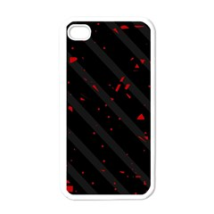 Black and red Apple iPhone 4 Case (White)