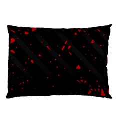 Black and red Pillow Case (Two Sides)