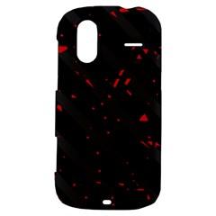 Black and red HTC Amaze 4G Hardshell Case
