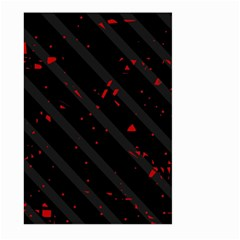 Black and red Large Garden Flag (Two Sides)
