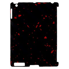 Black and red Apple iPad 2 Hardshell Case (Compatible with Smart Cover)