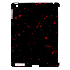 Black and red Apple iPad 3/4 Hardshell Case (Compatible with Smart Cover)