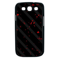 Black and red Samsung Galaxy S III Case (Black)