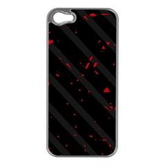 Black and red Apple iPhone 5 Case (Silver)