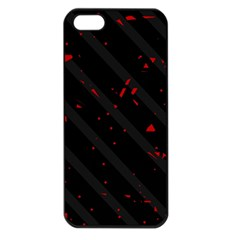 Black and red Apple iPhone 5 Seamless Case (Black)