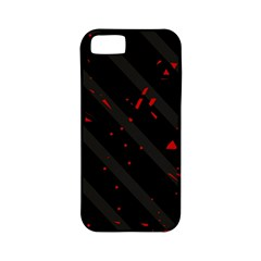 Black and red Apple iPhone 5 Classic Hardshell Case (PC+Silicone)
