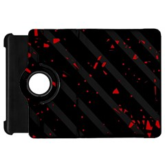 Black and red Kindle Fire HD Flip 360 Case