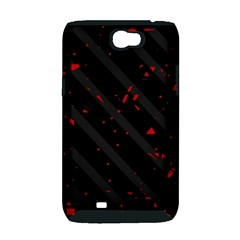 Black and red Samsung Galaxy Note 2 Hardshell Case (PC+Silicone)