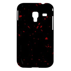 Black and red Samsung Galaxy Ace Plus S7500 Hardshell Case