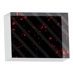 Black and red 5 x 7  Acrylic Photo Blocks