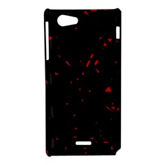 Black and red Sony Xperia J