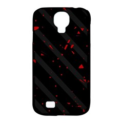 Black and red Samsung Galaxy S4 Classic Hardshell Case (PC+Silicone)