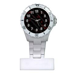 Black and red Plastic Nurses Watch